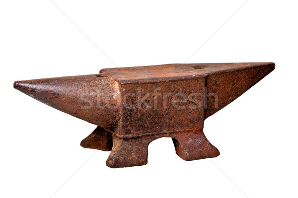 iron anvil Stock photo © tiero