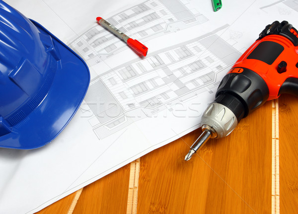worker carpenter tools Stock photo © tiero
