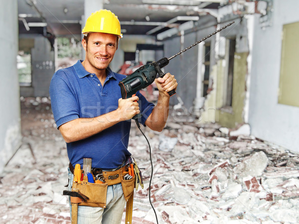 construction worker on duty Stock photo © tiero
