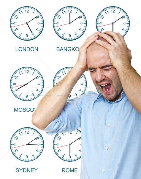 man stressed any time Stock photo © tiero