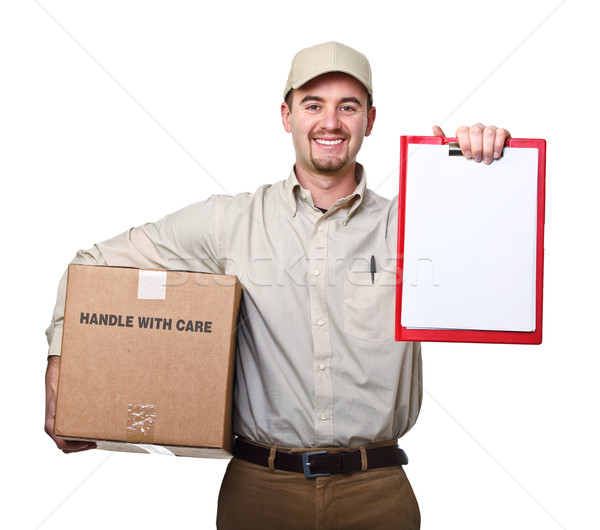 Stock photo: delivery man