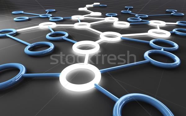 Conexión 3D imagen virtual web Internet Foto stock © tiero