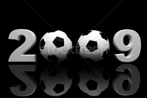 Futbol topu 2009 3D görüntü parti spor Stok fotoğraf © tiero