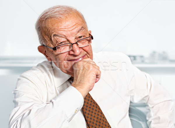 smiling old man portrait Stock photo © tiero