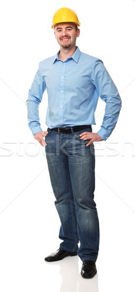 エンジニア 立って 優しい 孤立した 白 ビジネス ストックフォト © tiero