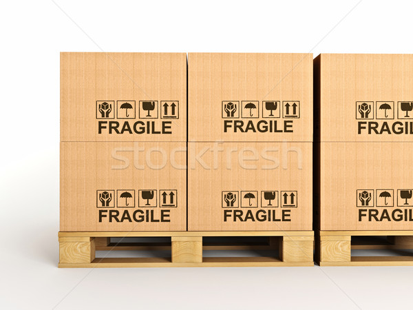 3d pallets Stock photo © tiero