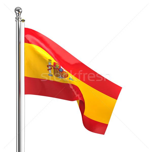 スペイン国旗 孤立した 白 鋼 コンセプト ストックフォト © tiero