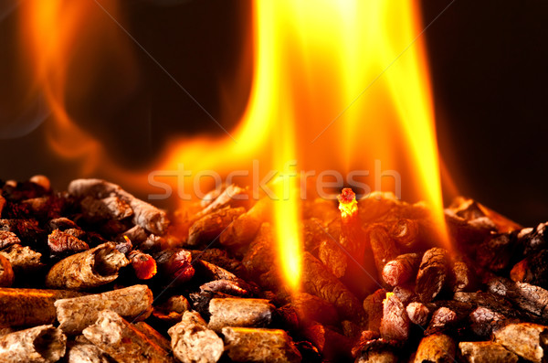 wood pellet Stock photo © tiero