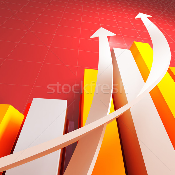 business chart graph Stock photo © tiero