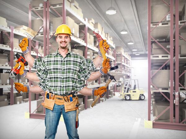 Nagyszerű munkás klasszikus raktár férfi munka Stock fotó © tiero