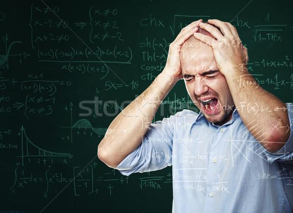 絶望的な 教師 黒板 学校 学生 ワーカー ストックフォト © tiero