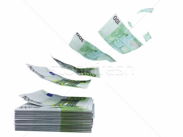 Atık euro 3D görüntü uçan kavram Stok fotoğraf © tiero