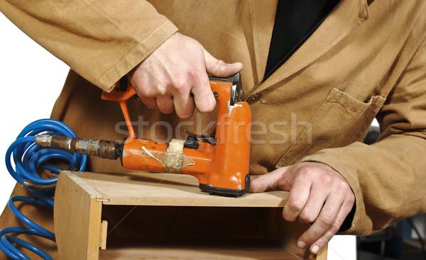 carpenter at work Stock photo © tiero