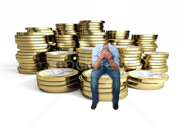 desperate man on 3d euro  Stock photo © tiero