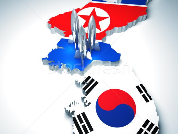 korea dangerous zone Stock photo © tiero
