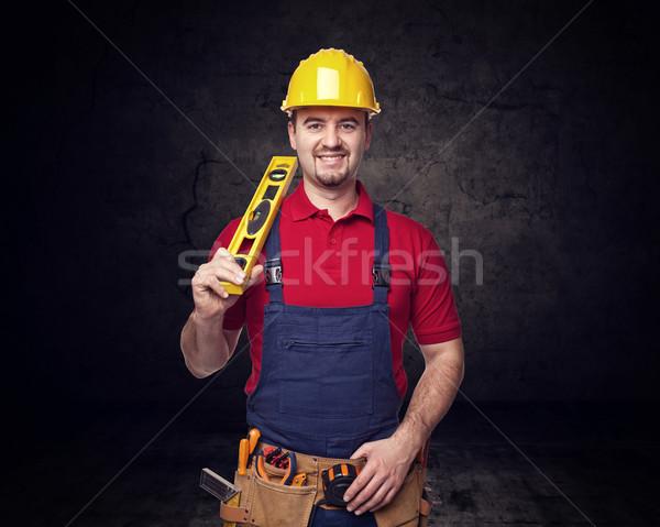 handyman portrair Stock photo © tiero