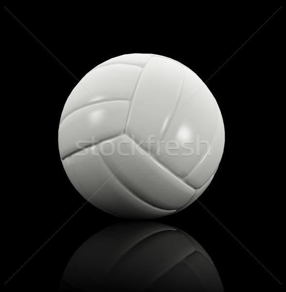 ボレー ボール 黒 3D 反射 ストックフォト © tiero