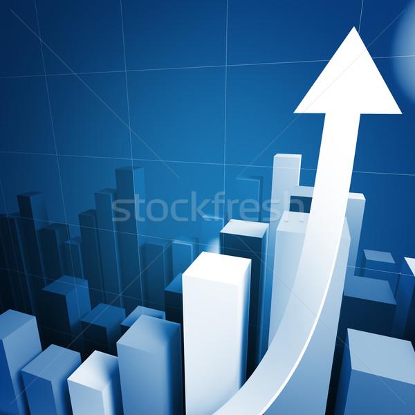 3d stat with growing arrow Stock photo © tiero