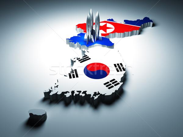 Stock photo: north and south korea