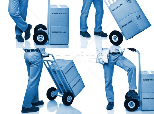 Mensajero detalle azul hombre fondo camión Foto stock © tiero