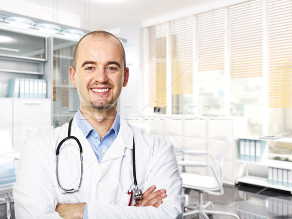 Médecin portrait souriant 3D image modernes Photo stock © tiero