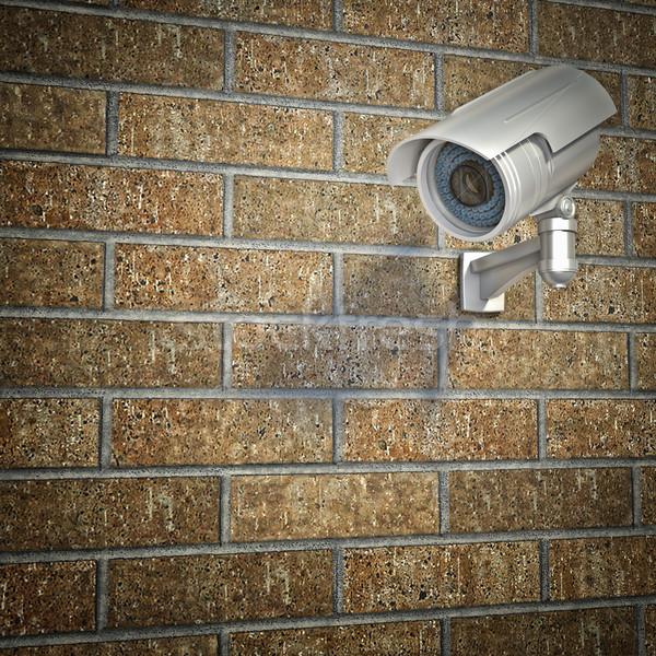 Cctv muur 3D muur technologie video Stockfoto © tiero