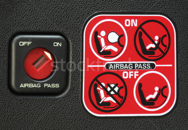 Airbag obraz naklejki nowoczesne Zdjęcia stock © tiero