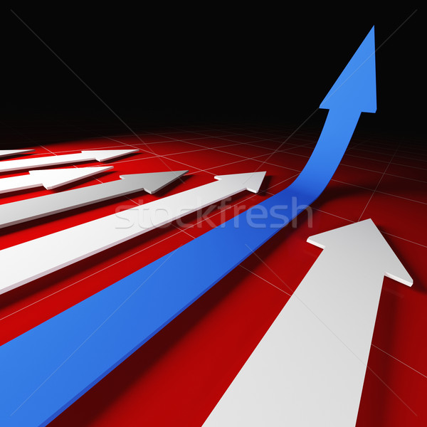 3d financial arrow Stock photo © tiero