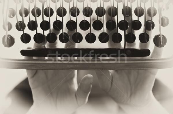 typewriter vintage background Stock photo © tiero