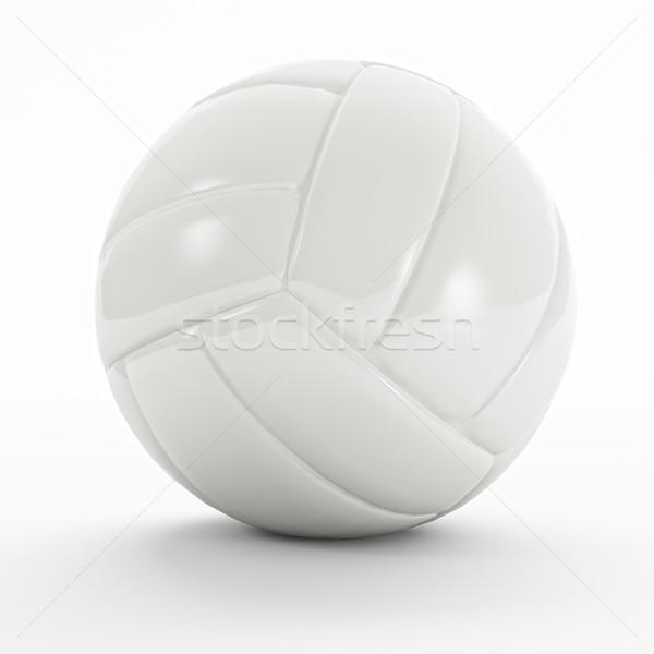 Fehér röpte labda 3D sportok jókedv Stock fotó © tiero