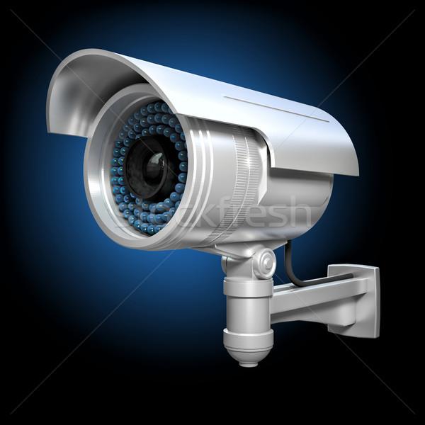 3D cctv image classique télévision Photo stock © tiero