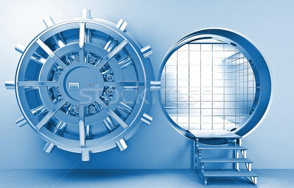Agykoponya 3D kép hatalmas ajtó pénz Stock fotó © tiero