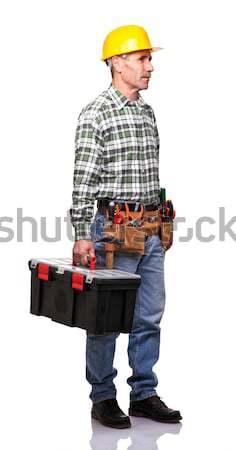 man with toolsbox Stock photo © tiero