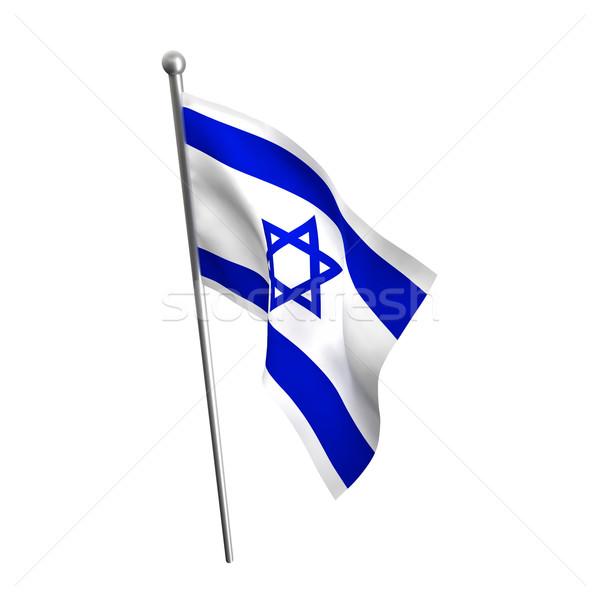 Izrael banderą odizolowany biały tle star Zdjęcia stock © tiero