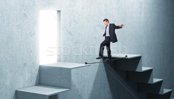 man on rope Stock photo © tiero