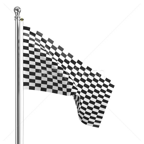 Afwerking vlag 3D afbeelding klassiek Stockfoto © tiero