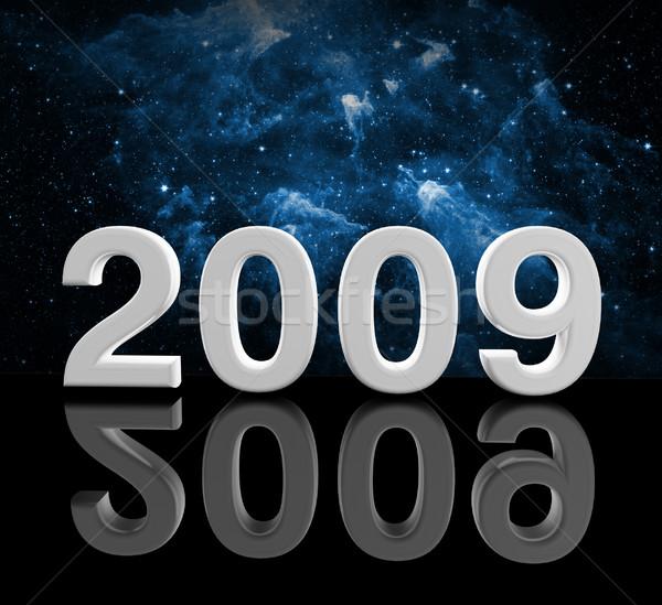 2009 yılbaşı 3D görüntü uzay parti Stok fotoğraf © tiero