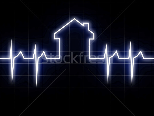 Cardio huis 3D afbeelding abstract hart Stockfoto © tiero