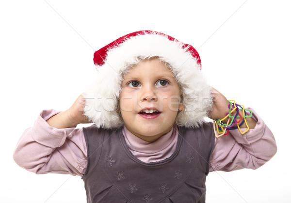 Kid Hat isolato bianco faccia Foto d'archivio © tiero