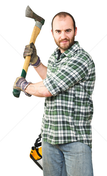 lumberjack portrait Stock photo © tiero