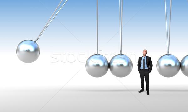 Biznesmen kołyska 3D człowiek streszczenie pracownika Zdjęcia stock © tiero