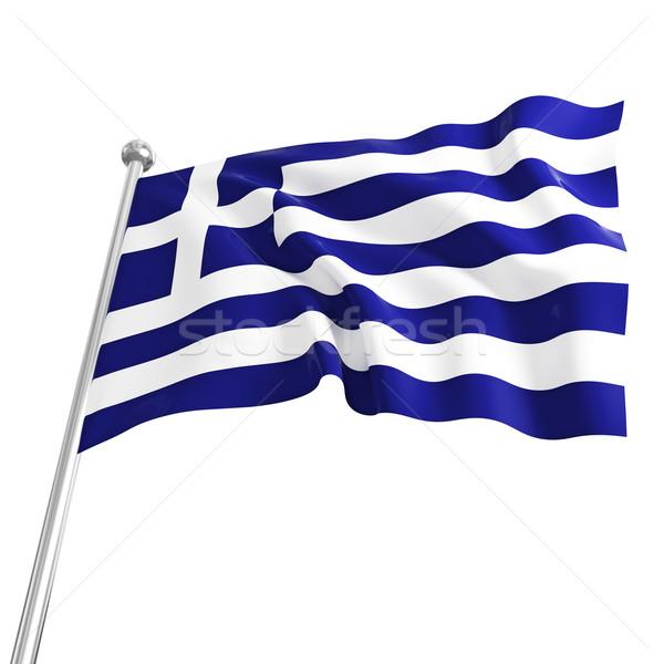 greek flag Stock photo © tiero