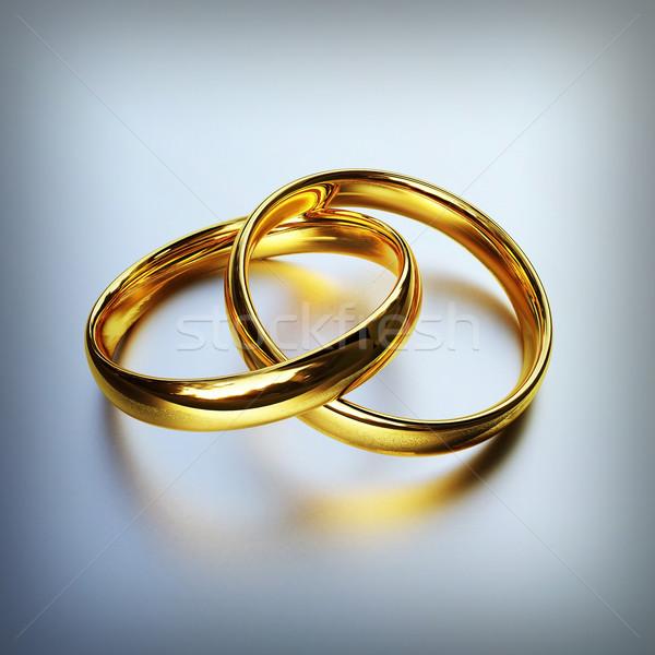 金 リング 3D 画像 結婚式 ストックフォト © tiero