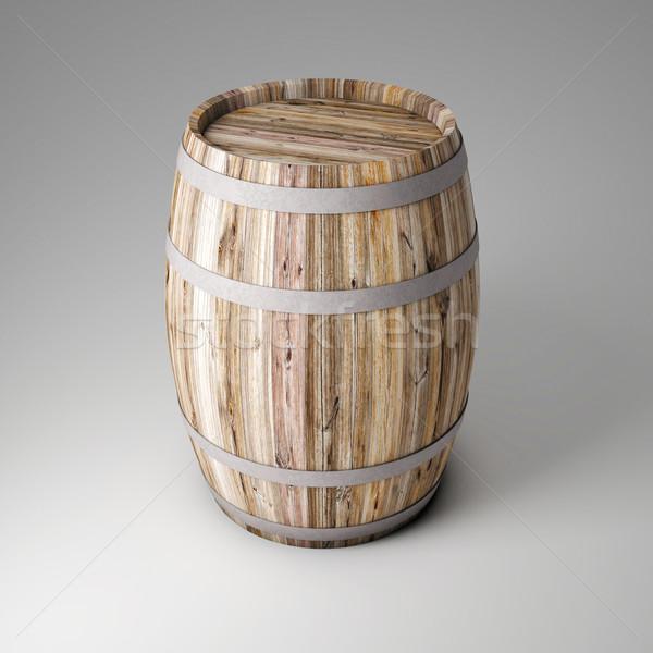 Legno barile 3D immagine classico birra Foto d'archivio © tiero
