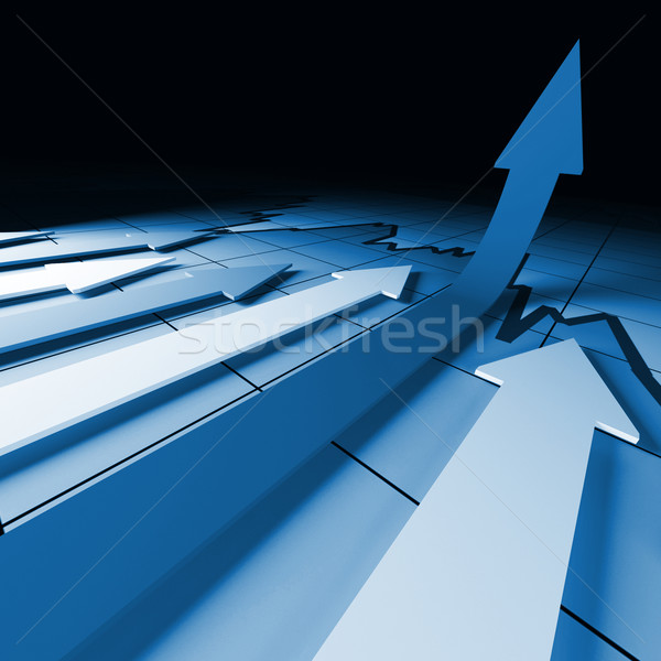 financial stat grow Stock photo © tiero