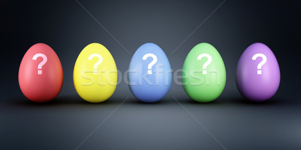 colorful eggs mistery Stock photo © tiero