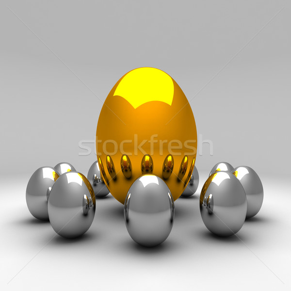 metal eggs Stock photo © tiero