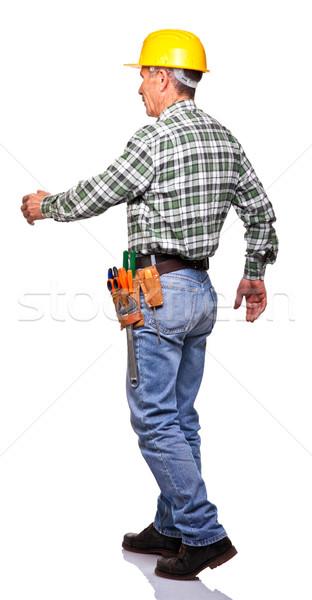walking handyman Stock photo © tiero