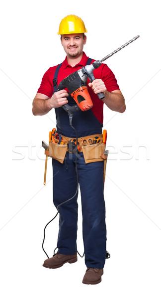 Yıkım adam portre işçi beyaz Stok fotoğraf © tiero