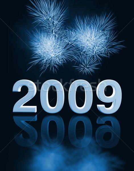 2009 parti görüntü 3D havai fişek soyut Stok fotoğraf © tiero